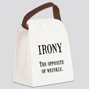 Irony Black Canvas Lunch Bag