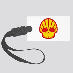 Shell Skull Red Large Luggage Tag