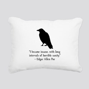Edgar Allen Poe Quote Black Rectangular Canvas