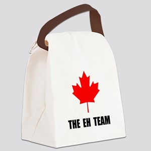 The EH Team Black Canvas Lunch Bag