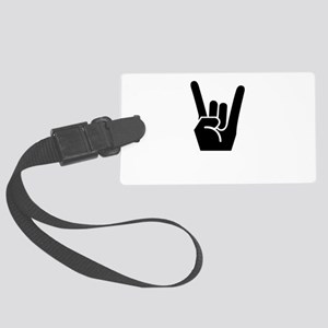 Rock On Black Large Luggage Tag