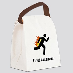 I Tried It At Home Black SOT Canvas Lunch Bag