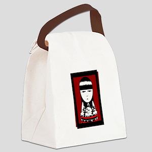 Goth Girl Black Canvas Lunch Bag