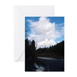 Eel River with Clouds Greeting Cards (Pk of 10)
