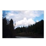 Eel River with Clouds Postcards (Package of 8)