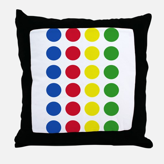 Twister Dots Throw Pillow