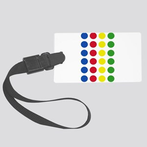 Twister Dots Large Luggage Tag