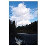 Eel River with Clouds Large Poster