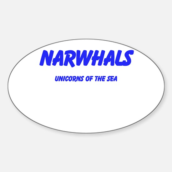 Narwhals Sticker (Oval)