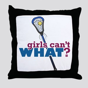Lacrosse Stick Blue Throw Pillow