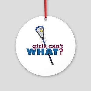 Lacrosse Stick Blue Ornament (Round)