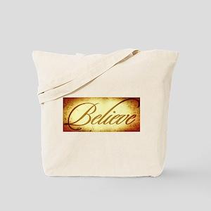 Believe vintage print Tote Bag