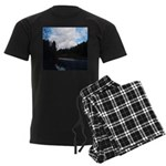Eel River with Clouds Men's Dark Pajamas