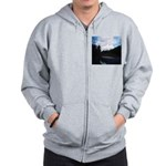 Eel River with Clouds Zip Hoodie