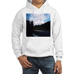 Eel River with Clouds Hooded Sweatshirt