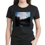 Eel River with Clouds Women's Dark T-Shirt