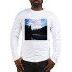 Eel River with Clouds Long Sleeve T-Shirt