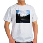 Eel River with Clouds Light T-Shirt