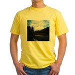 Eel River with Clouds Yellow T-Shirt