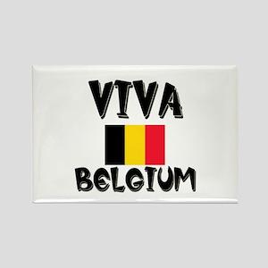 Viva Belgium Rectangle Magnet