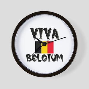 Viva Belgium Wall Clock