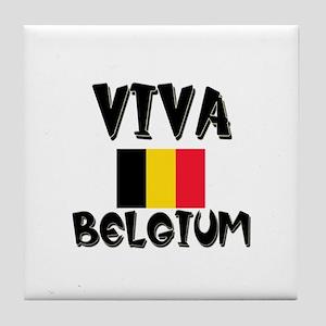 Viva Belgium Tile Coaster
