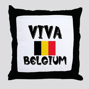 Viva Belgium Throw Pillow