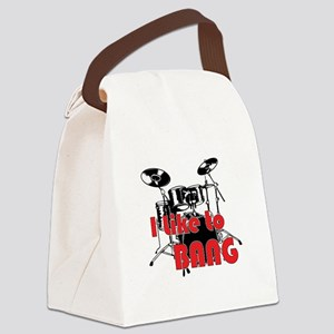 Drum Set Humor Canvas Lunch Bag