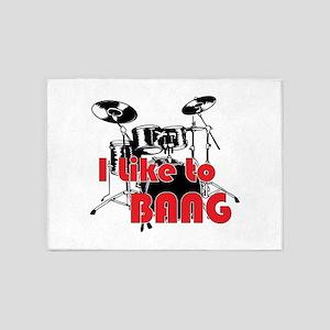 Drum Set Humor 5'x7'Area Rug