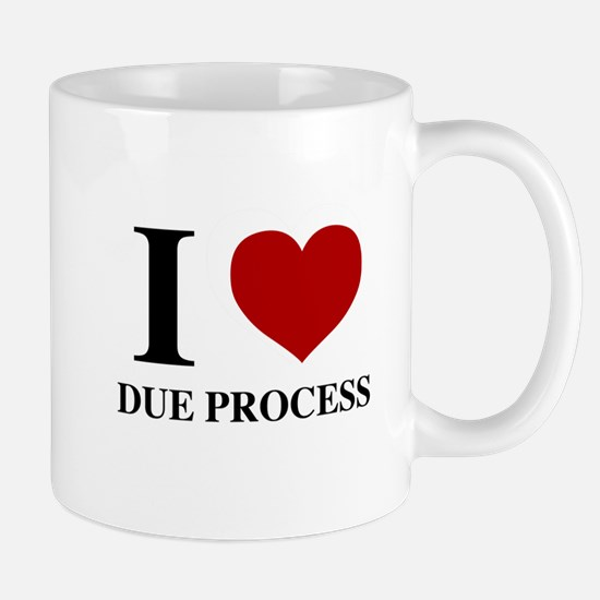 MI Heart Due Process Mug