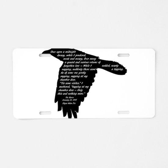 The Raven - Edgar Allan Poe Aluminum License Plate