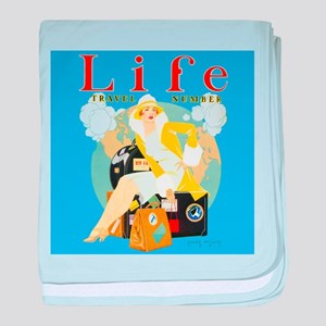 Life Travel Number baby blanket