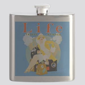Life Travel Number Flask
