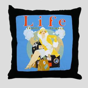 Life Travel Number Throw Pillow
