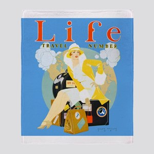 Life Travel Number Throw Blanket