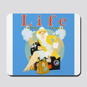 Life Travel Number Mousepad