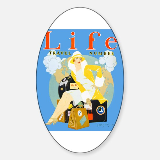 Life Travel Number Sticker (Oval)