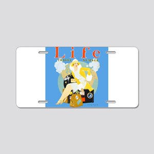 Life Travel Number Aluminum License Plate