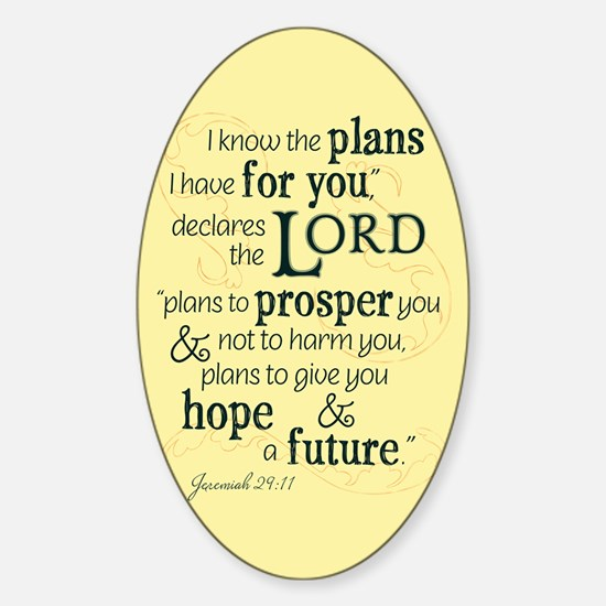 Jeremiah 29:11 hope and a future Decal