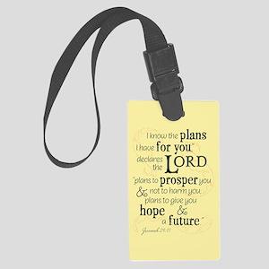 Jeremiah 29:11 hope and a future Luggage Tag