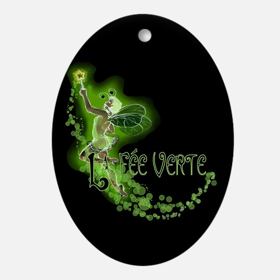 Dark Absinthe Fairy Flying Ornament (Oval)