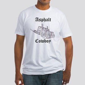Asphalt Cowboy Old English Fitted T-Shirt