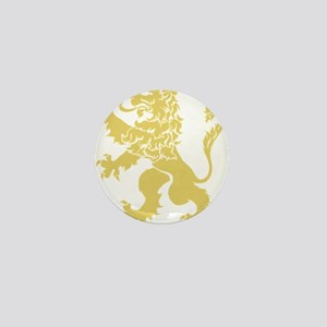 Gold Rampant Lion Mini Button