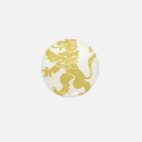 Gold Rampant Lion Mini Button