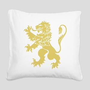 Gold Rampant Lion Square Canvas Pillow
