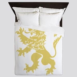 Gold Rampant Lion Queen Duvet