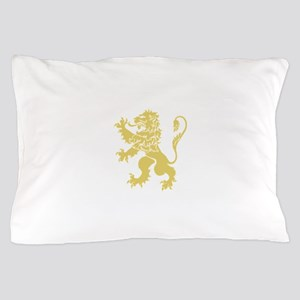 Gold Rampant Lion Pillow Case