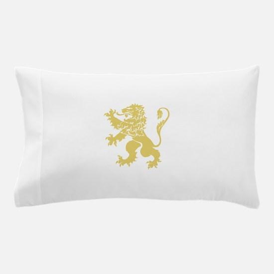 Gold Rampant Lion Pillow Case