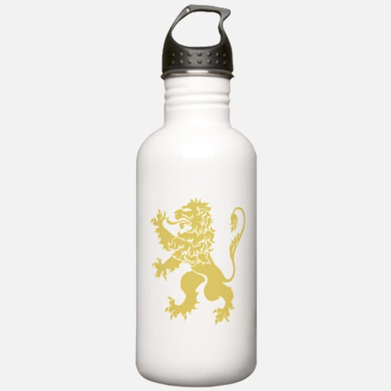 Gold Rampant Lion Water Bottle