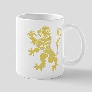 Gold Rampant Lion Mug